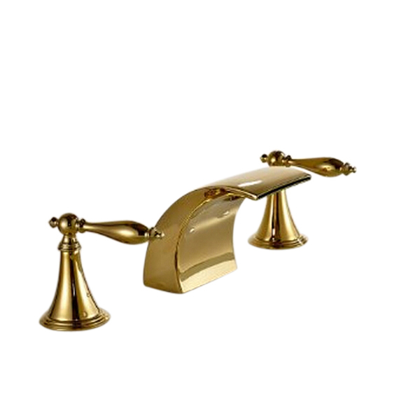 Maceio led dual handle bathtub faucet