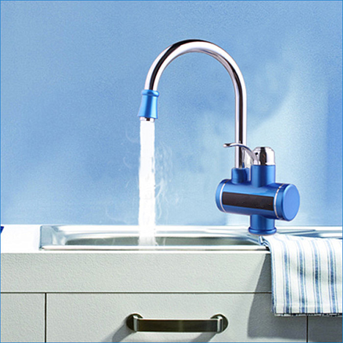 Rotable Kitchen Faucet with Tankless Water Heater