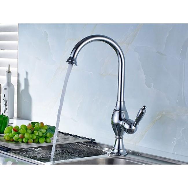 Rotatable Kitchen Sink Copper Chrome Faucet
