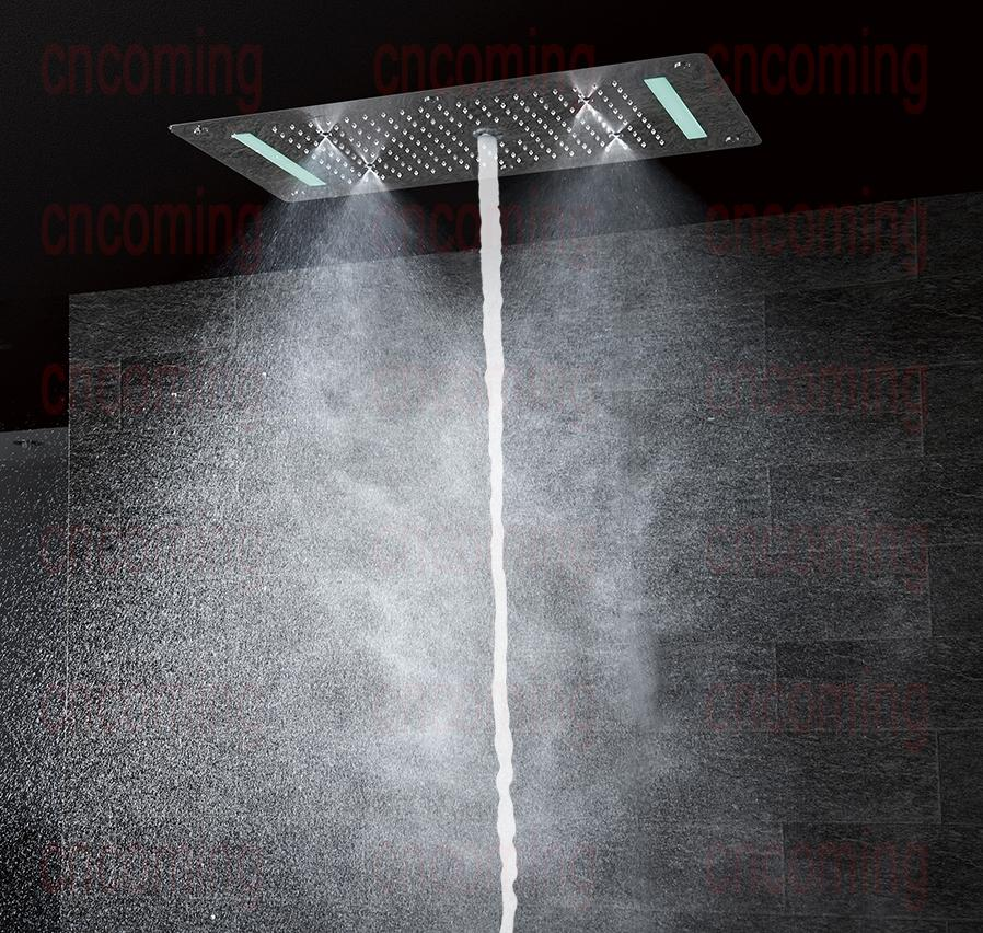 Super Luxury 5 Function Recessed Ceiling Mount LED Large Shower Set System