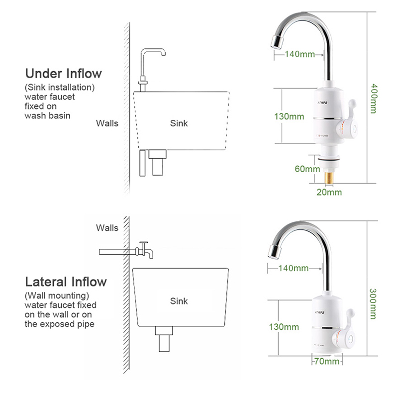 Simon Electric Water Heater Kitchen Faucet