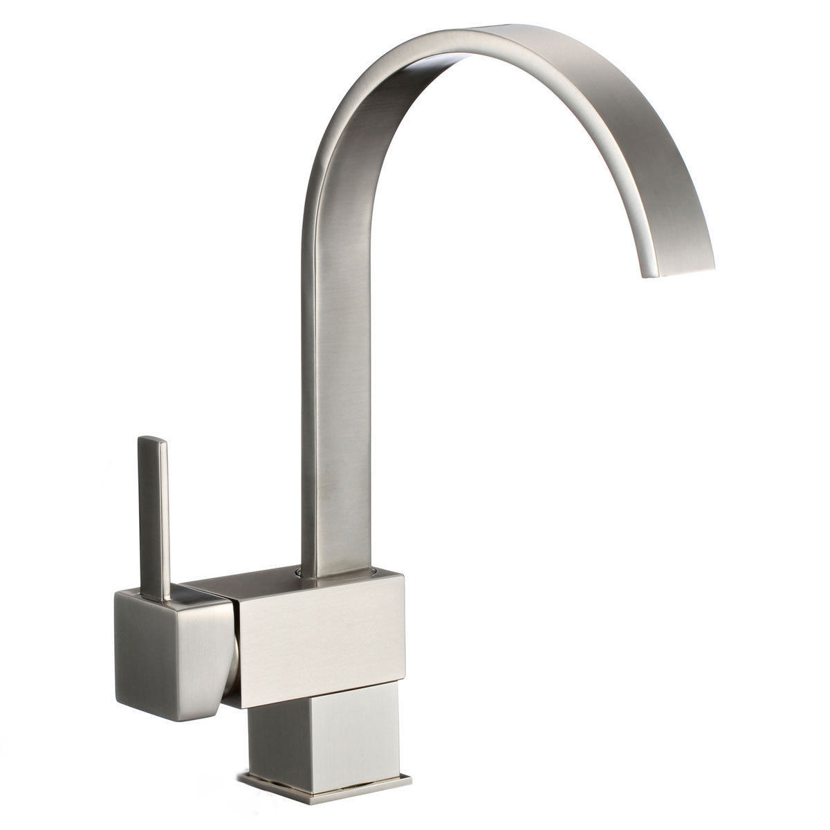 Single Handle Bathroom / Kitchen Waterfall Sink Faucet Brushed