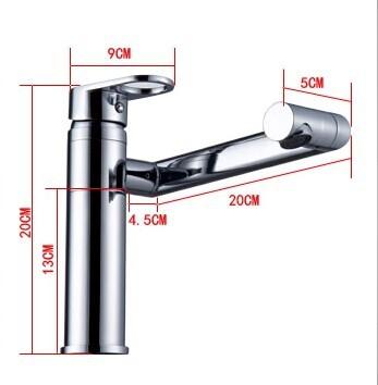 Single Handle Free Rotation Bathroom Sink Faucet Mixer