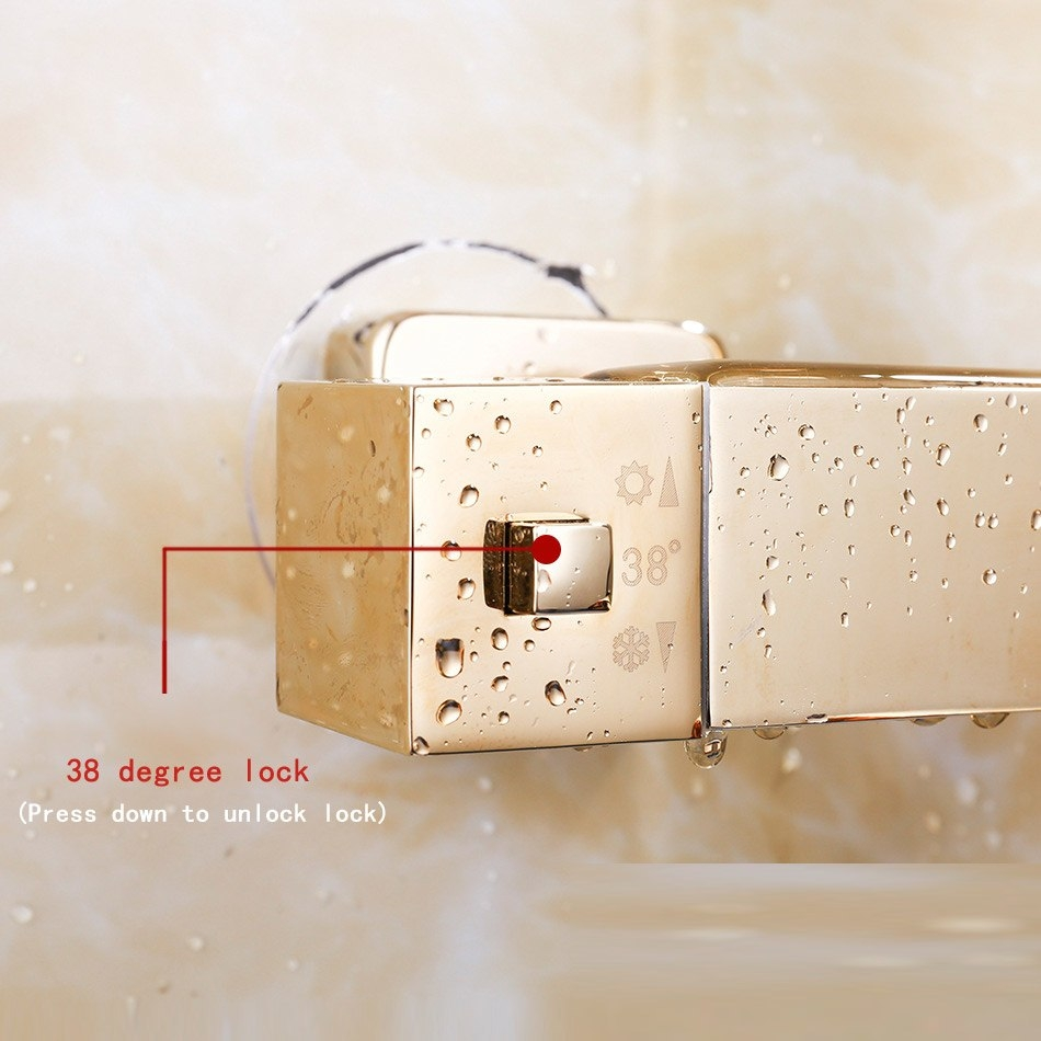 Square Curved Gold Single Handle Wall Mount Shower with Hand-Held Shower