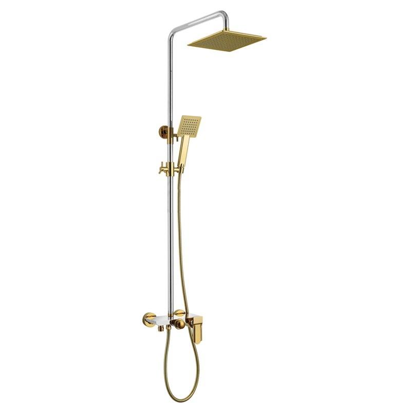 Square Luxury ABS Rain Waterfall Shower 10 Inch Shower Head