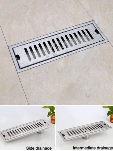 Stainless Steel Brushed Nickel Multiple Bathroom Drainage Cover