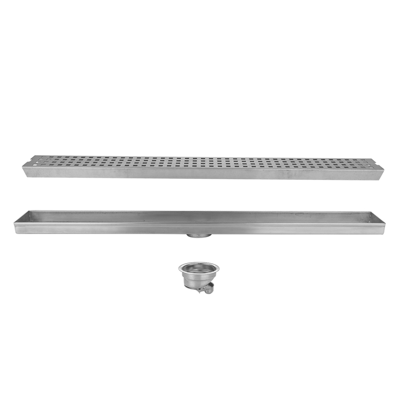 Stainless Steel Floor Mount Square Holes Deodorisation Drainer