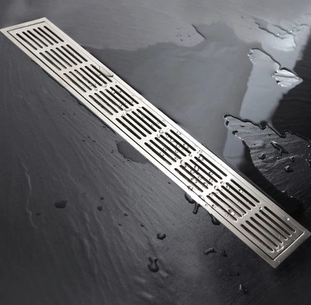 Stainless Steel Linear Bathroom Shower Horizontal Drain