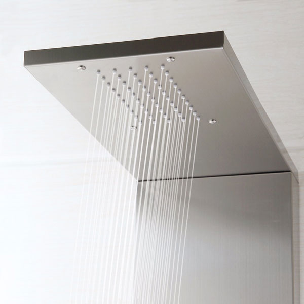 Stainless Steel Massage Bath Waterfall Wall Mounted Shower Tower