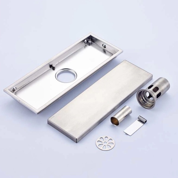Stainless Steel Rectangle Anti-Odors Invisible Shower Drainq