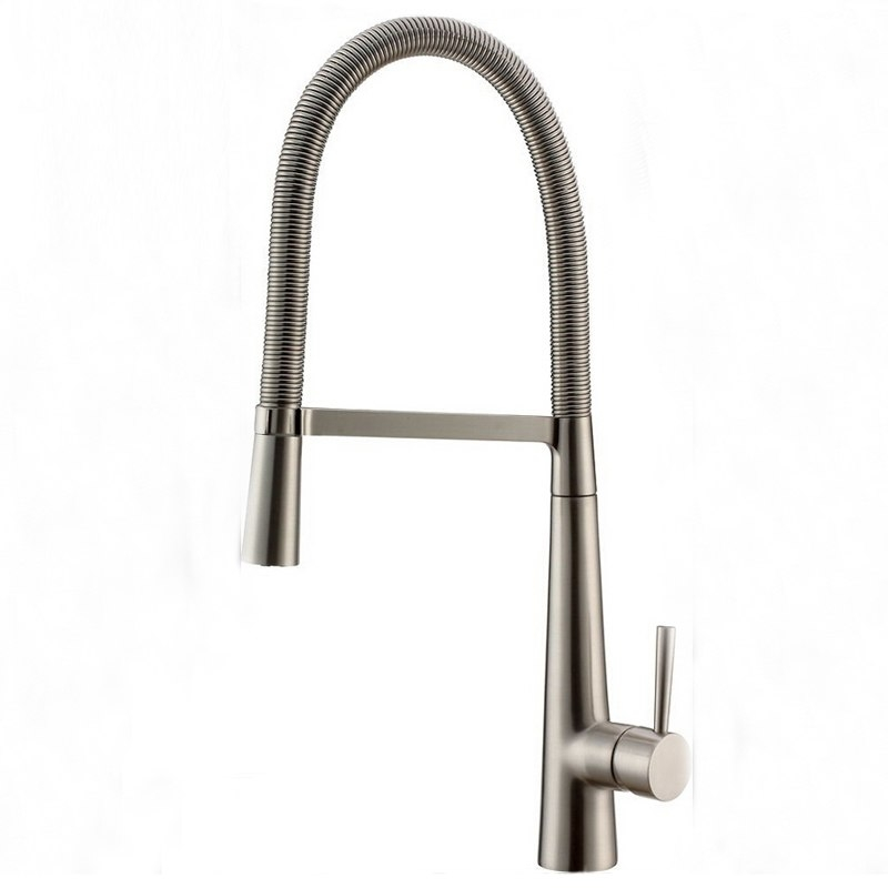 Stylish Luxury Brushed Nickel Single Handle Kitchen Sink Faucet