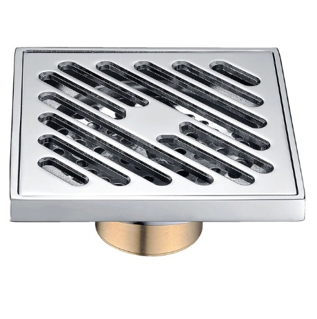 Stylish Square Shape Polished Bathroom Floor Drain System