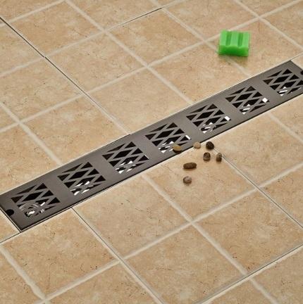 Stylish Zig Zag Oil-Rubbed Bronze Waste Water Bathroom Drain System