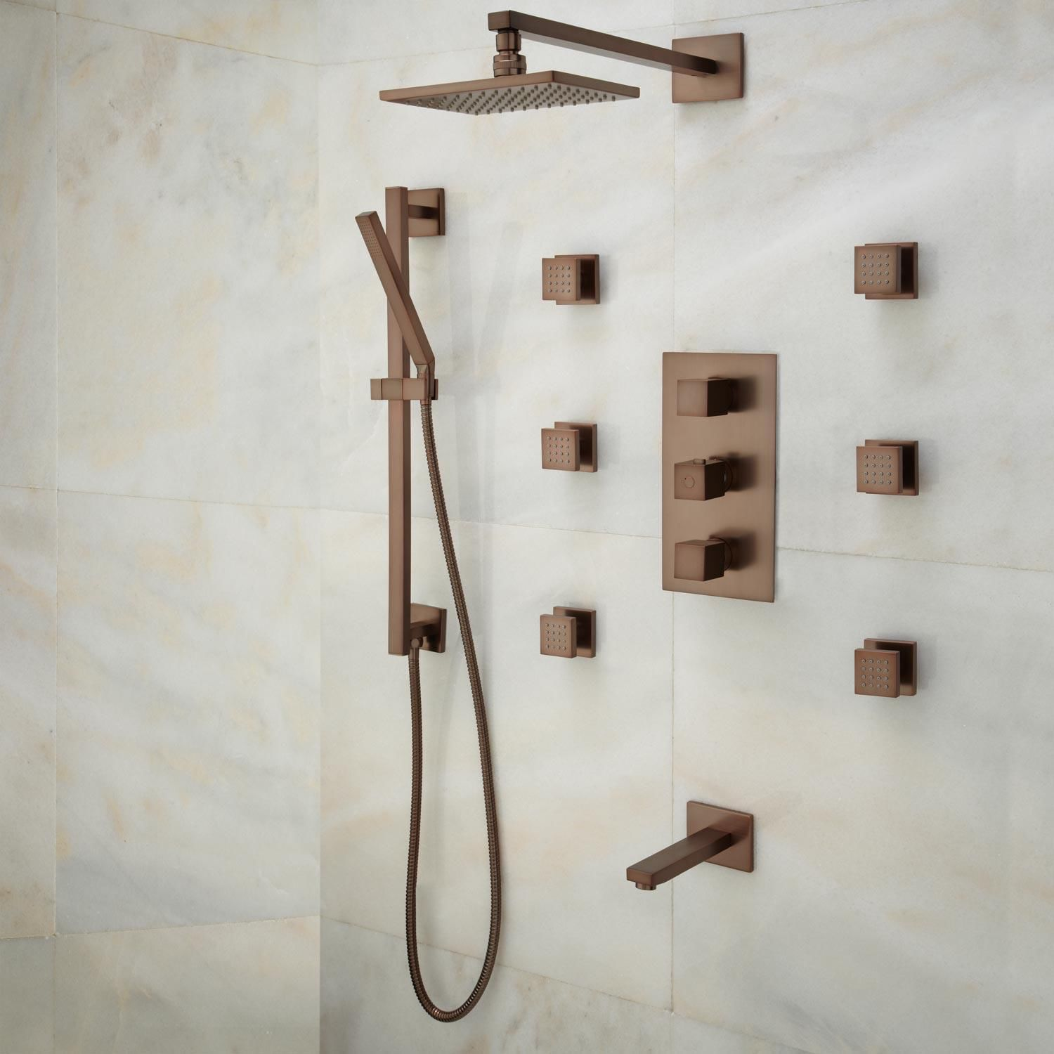 Oil Rubbed Bronze Luxury Shower Systems