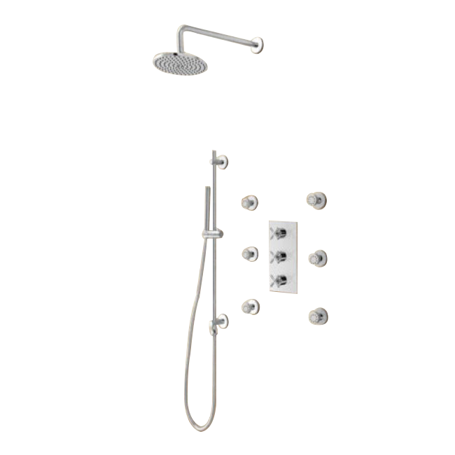 shower systems with round shower head