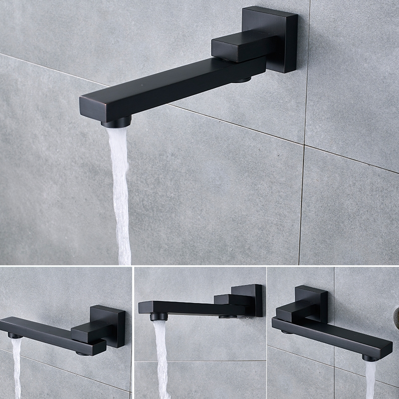 Thermostatic Wall Mount Shower Head with Mixer Swivel Faucet