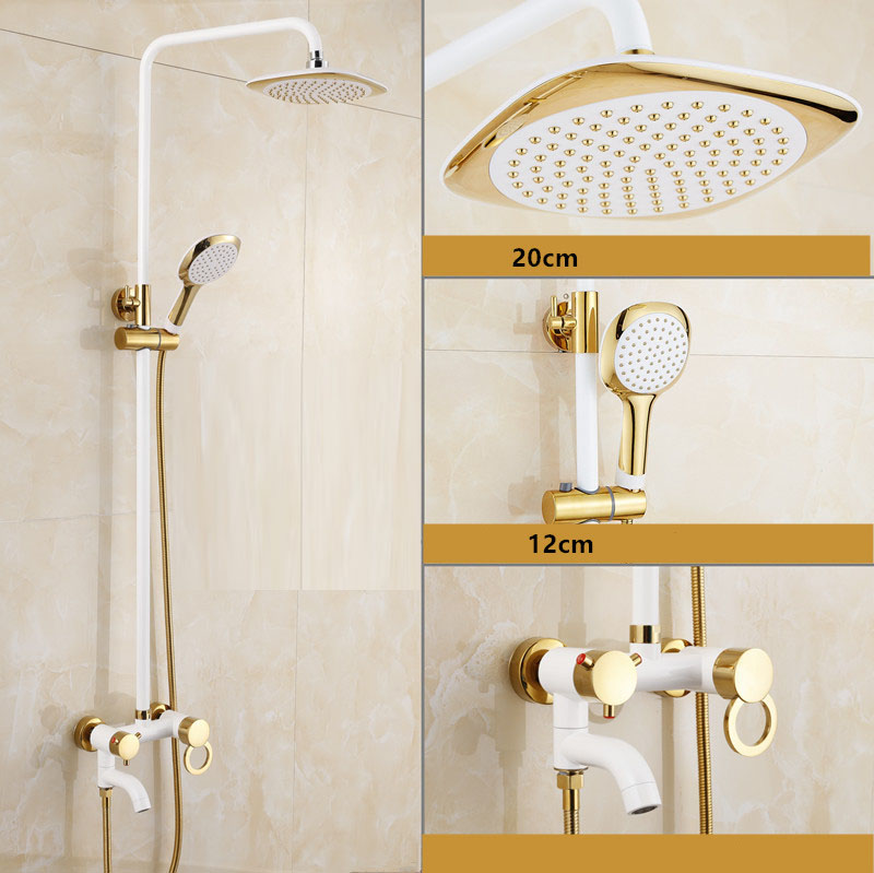 Turin Wall Mount Shower And Bathtub Dual Handle Faucet Set Antique