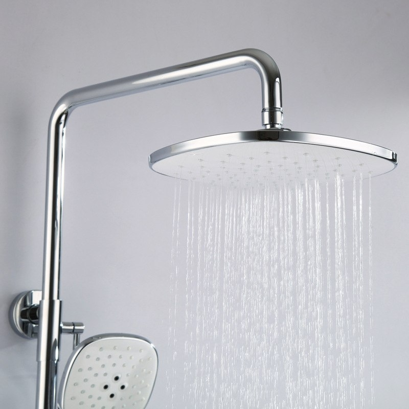 US Widespread Wall Installation Shower Head Faucet with Handheld Shower