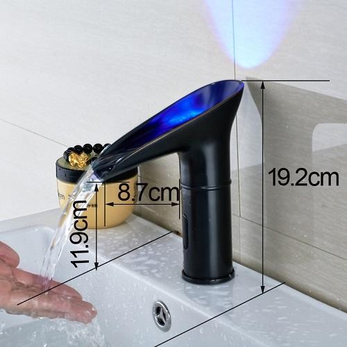 Vegas Oil Rubbed Bronze Battery Power Automatic Hand Touch Sensor Bathroom Basin Faucet