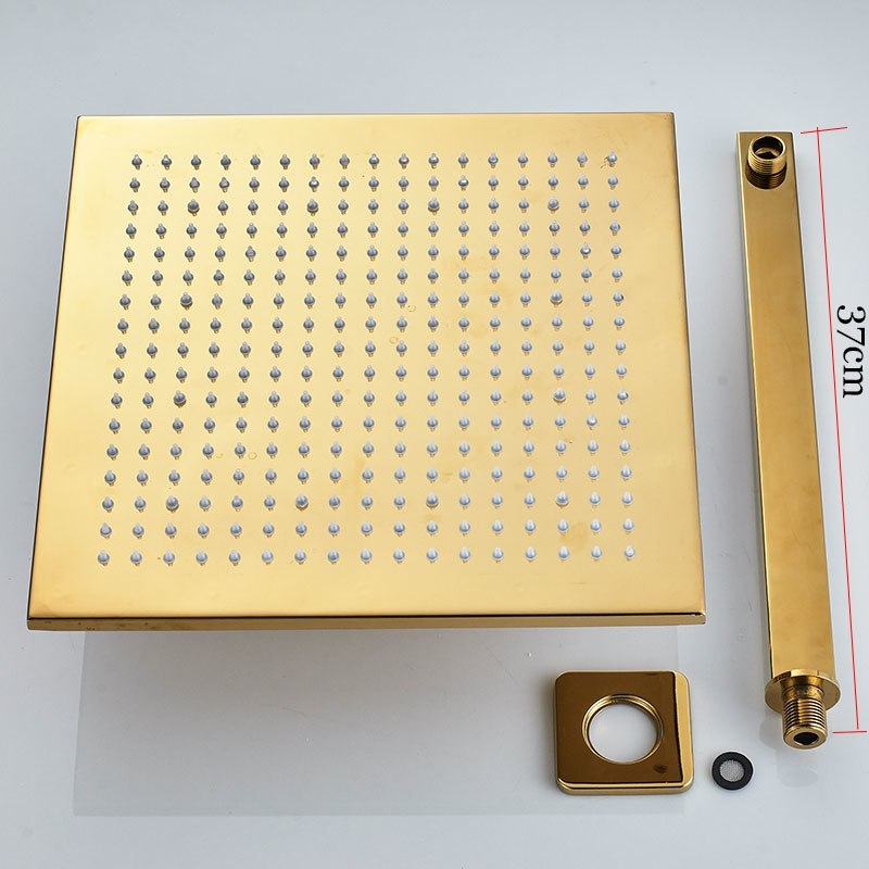 Verona Bathroom Shower Set With Mixer Tap In Gold