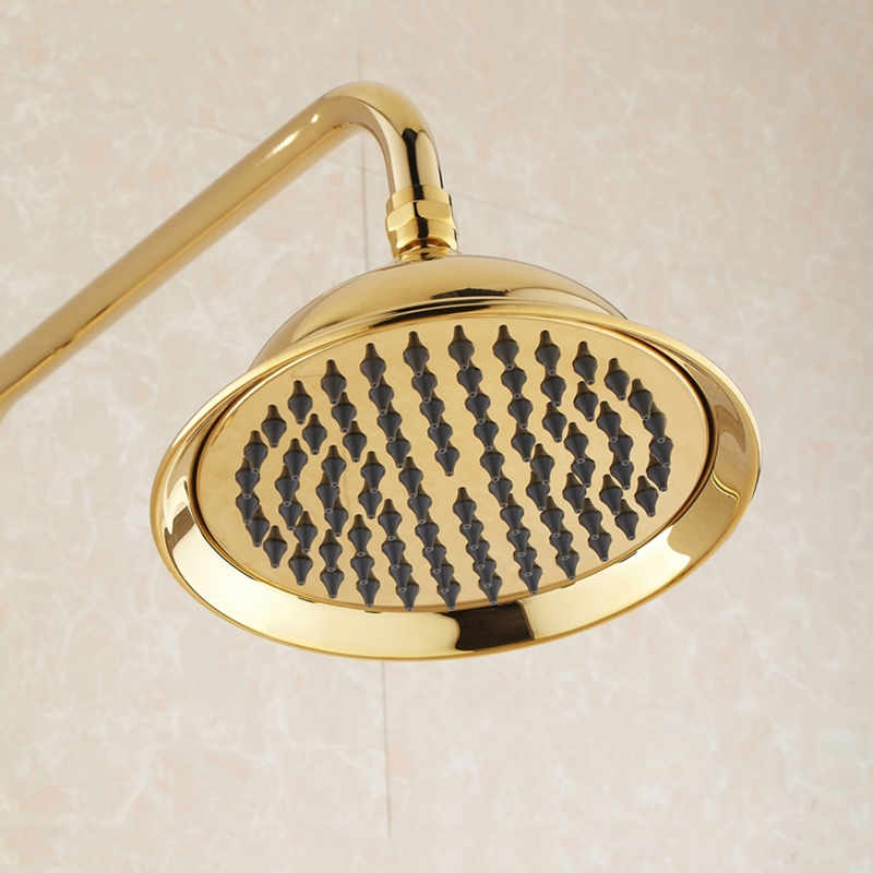 Wall Mount Single Handle Gold Bathroom Shower with Hand-Held Shower