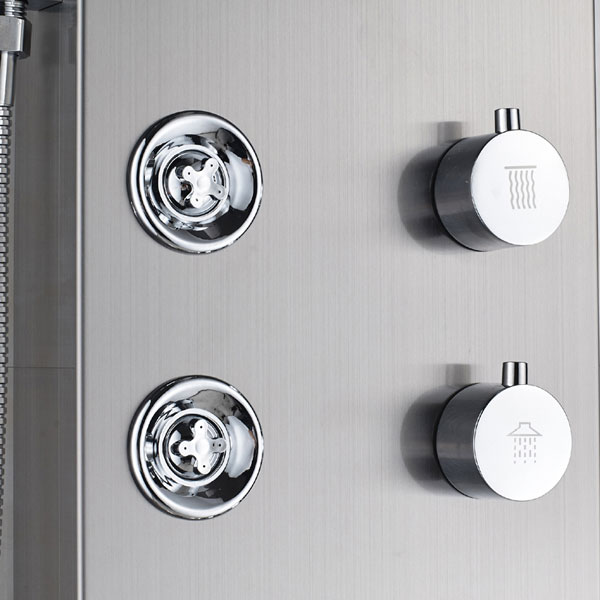 Wall Mounted 6pc Massage Jets with Hand Shower and Tub Spout