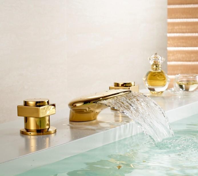 gold sink faucet
