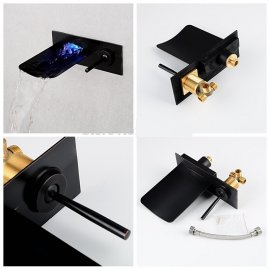 Quito LED Oil Rubbed Bronze Bathroom Sink Faucet