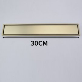 Juno Brushed Gold 12 Inches Long Linear Concealed Floor Drain System