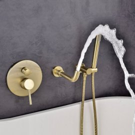 Gold Finish Shower Faucet