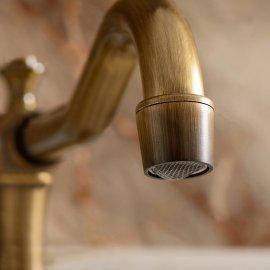 Antique Brass Dual Handle Bathroom Faucet