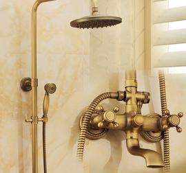 Antique Brushed Brass Shower Head
