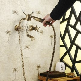 New Design Antique Bronze Bathtub Faucet Wall Mount Shower Faucet