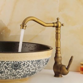 Antique Bronze Long neck Kitchen Sink Faucet