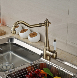 Antique Bronze Single Handle Kitchen Faucet