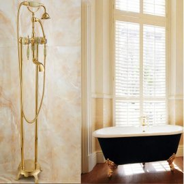 gold ree standing shower