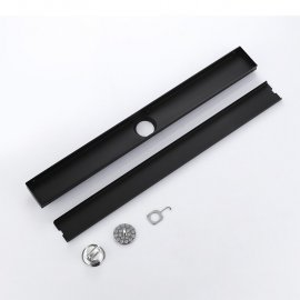 black linear shower drain