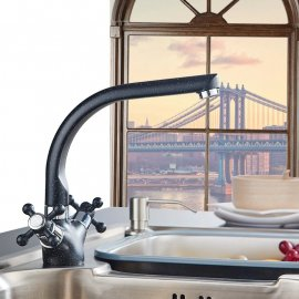 Multi color Deck Mount Kitchen Sink Faucet