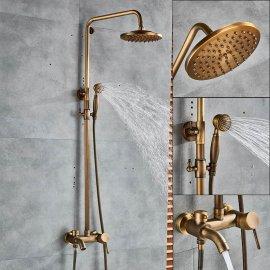 Solid brass hand held shower bathtub showers