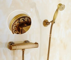Roman Wall Brass Hand Held Shower and Hose