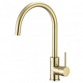 Brushed Gold Kitchen Faucet Deck Mount Single Handle