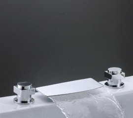 Juno Waterfall Sink & Bathtub Double Handel Faucet