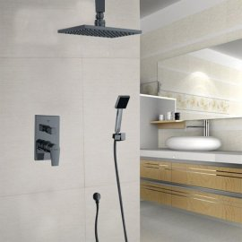 Juno Stylish Black Shower System