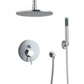 Juno Allora Rain Shower System with Handheld Shower Head