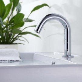 Chrome Finish Simple Automatic Sensor Bathroom Faucet