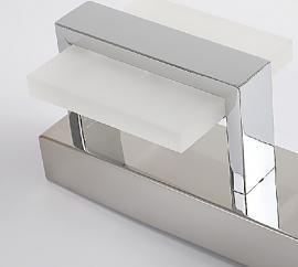 Juno LED Chrome Bathroom Mirror Light Fixtures 3 in 1 Transparent Square Light