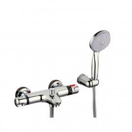 Chrome Thermostatic Wall Mounted Bathroom Shower-Head