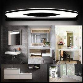 Juno Bathroom Mirror Lights Semi Circle Stainless Steel Chrome Wall Lamp Mirror Sconce