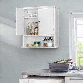 Double Door White Bathroom Medicine Cabinets