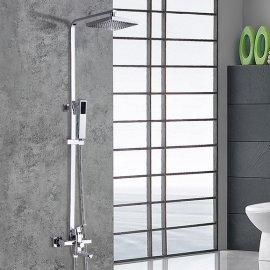 Galina Stainless Steel chrome Plated Handshower Brass Diverter Shower Set